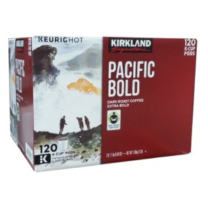 Kirkland Signature Pacific Bold Dark Roast K Cups 120 ct