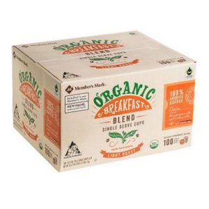 Member's Mark Organic Breakfast Blend Single Serve K Cup 100 Ct