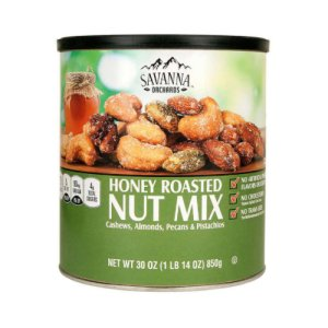 Savanna Orchards Honey Roasted Nut Mix 30 oz