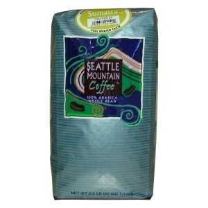 Seattle Mountain Sumatra Coffee Whole Bean 2.5 lb