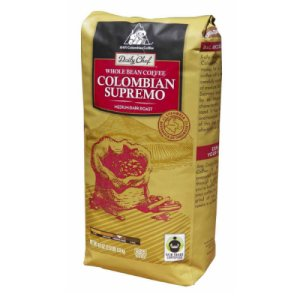 Daily Chef Finest Colombia Supremo Whole Bean Coffee 2.5 lb