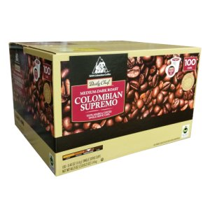 Daily Chef Colombian Supremo Single Serve K Cups 100 Count