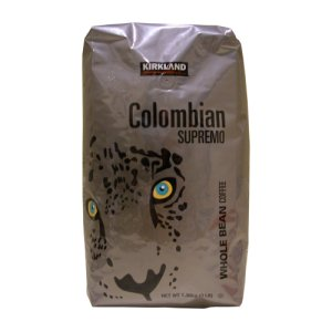 Kirkland Signature Colombian Supremo Whole Bean Coffee 3 Lb