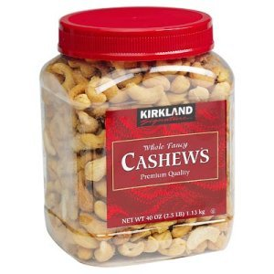 Kirkland Signature Whole Fancy Cashews 2.5 lb